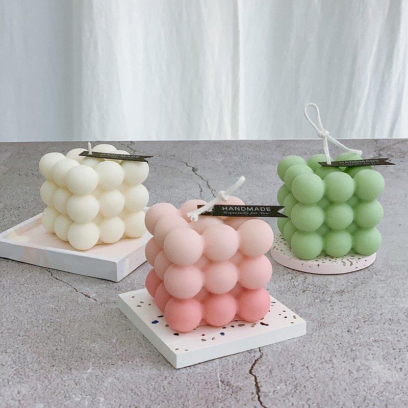 天然大豆蠟-萌球魔方香氛蠟燭