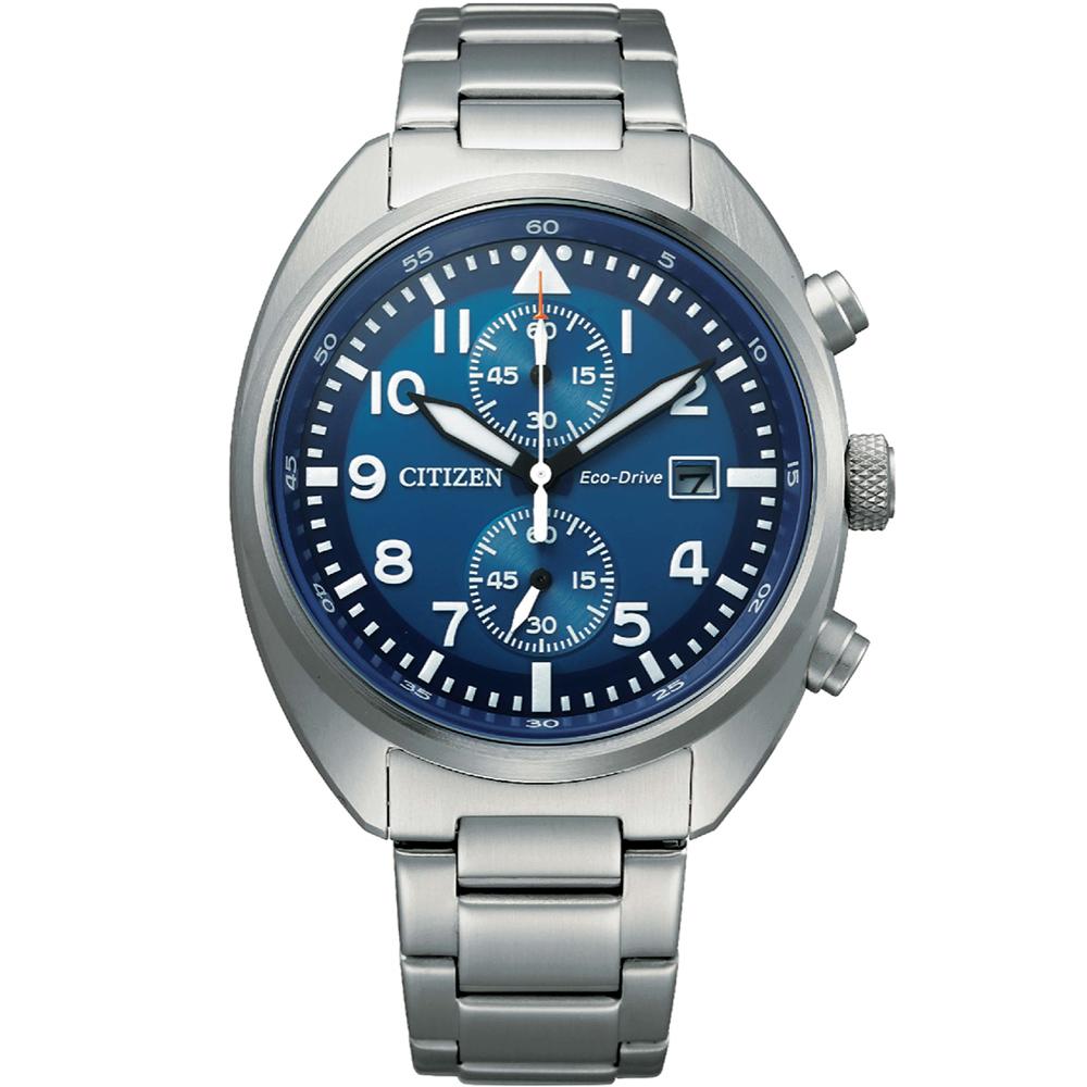 CITIZEN 星辰 Eco-Drive 飛行員系列計時腕錶(CA7040-85L)