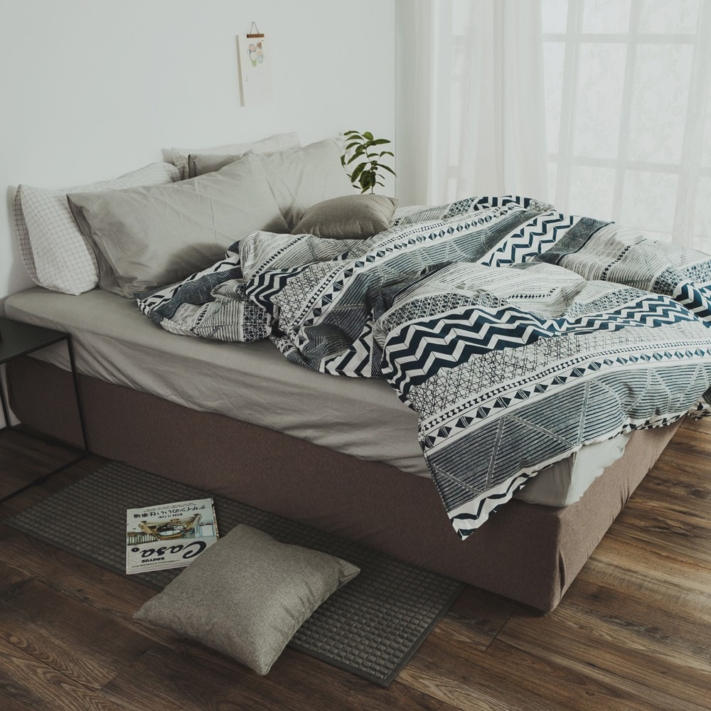 絲薇諾 精梳棉床包薄被套組(戀路海岸 )四件組/台灣製