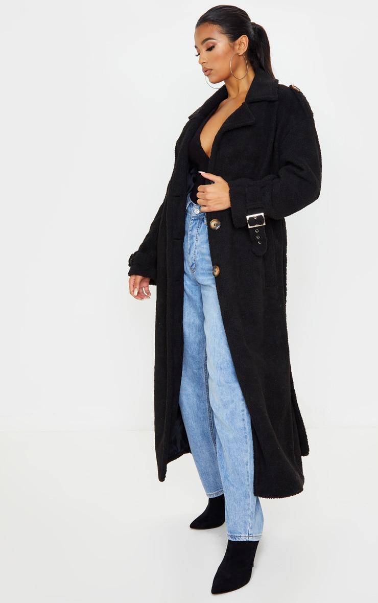 Black Borg Oversized Belted Coat