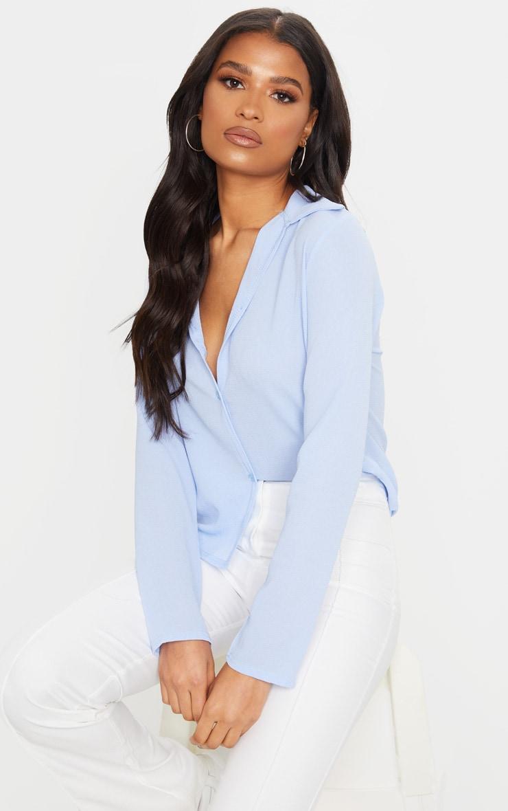 Baby Blue Chiffon Shirt