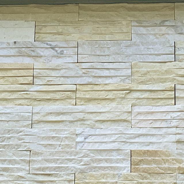 黃晶石 拉溝面 (石材 建材 牆面材料 DIY 景觀)
