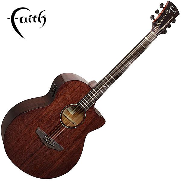 Faith FPVCG 全單板桃花心木 40吋民謠吉他-缺角造型/ 英國名品/ 附原廠琴袋