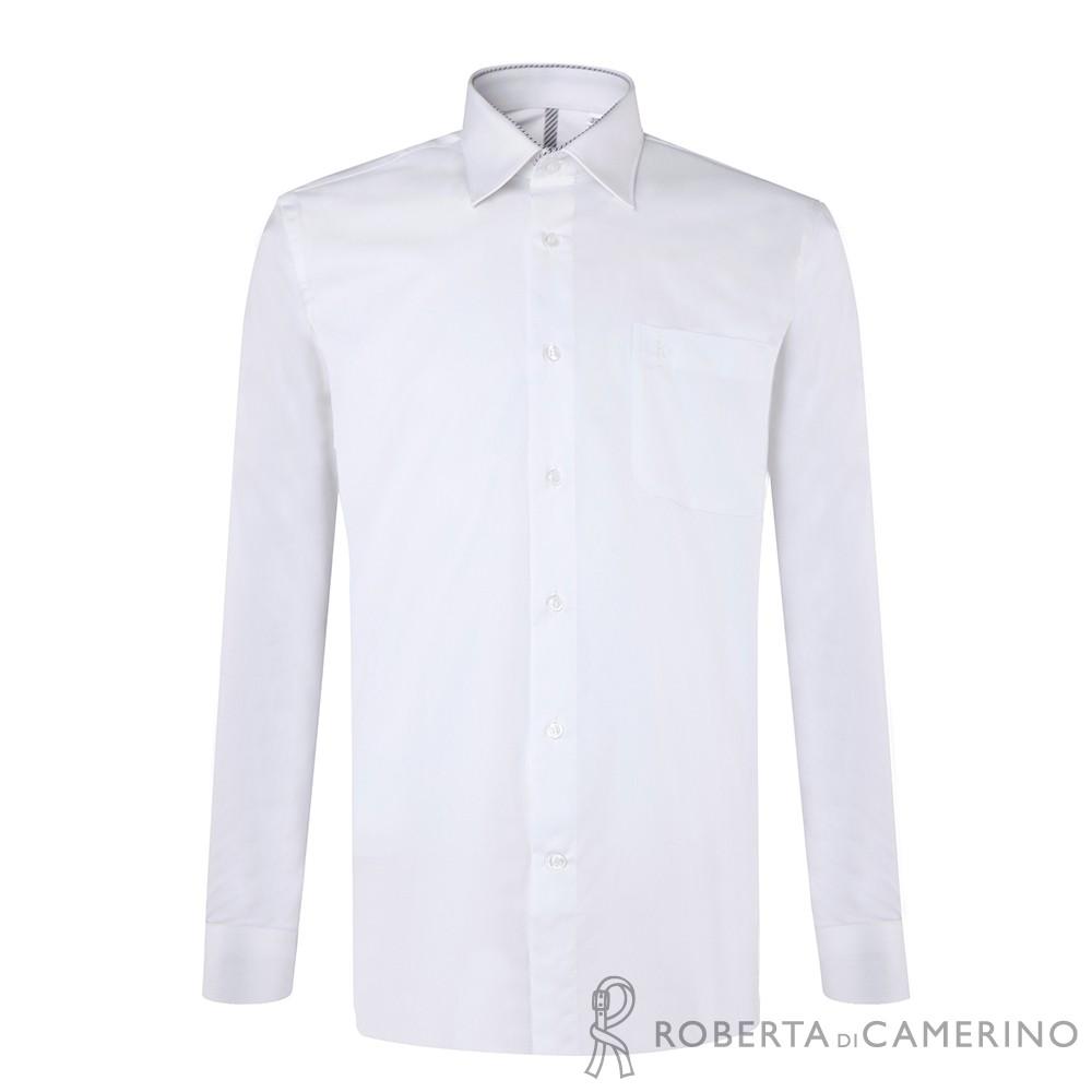 ROBERTA諾貝達 台灣製 嚴選穿搭 職場型男長袖襯衫 白色