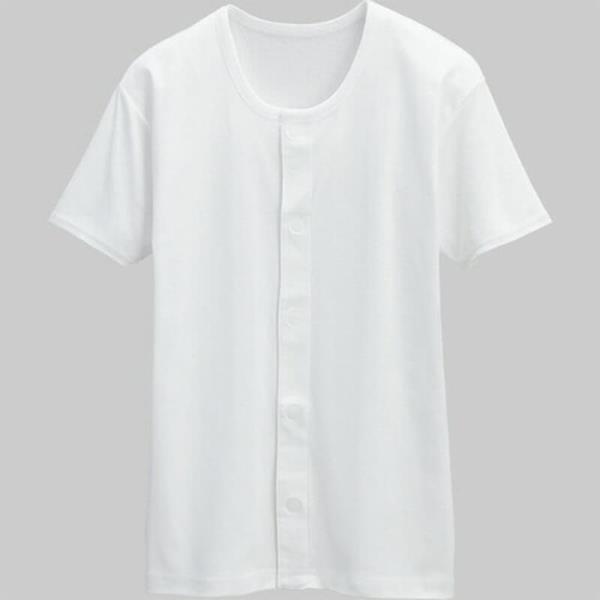 【Kawamoto】日本進口 前開自粘式短袖內衣(女) 一入