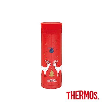 THERMOS膳魔師不鏽鋼真空保溫杯0.3L(JNC-300-CDRD)(聖誕麋鹿)