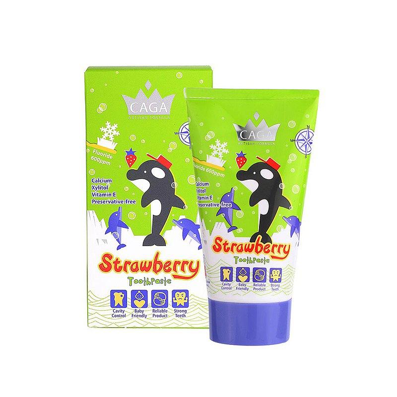 【CAGA】牙佳 兒童含氟牙膏(草莓味) 50ml