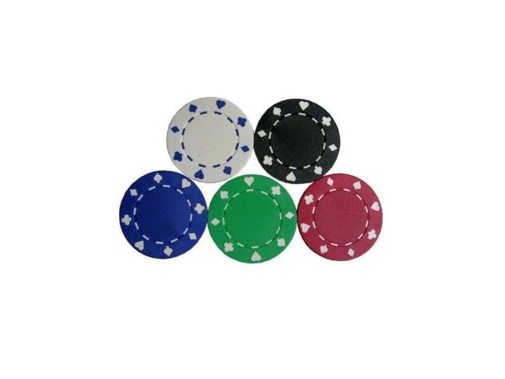 拉斯維加斯雙色-撲克圖形籌碼100pcs (100-s5型)