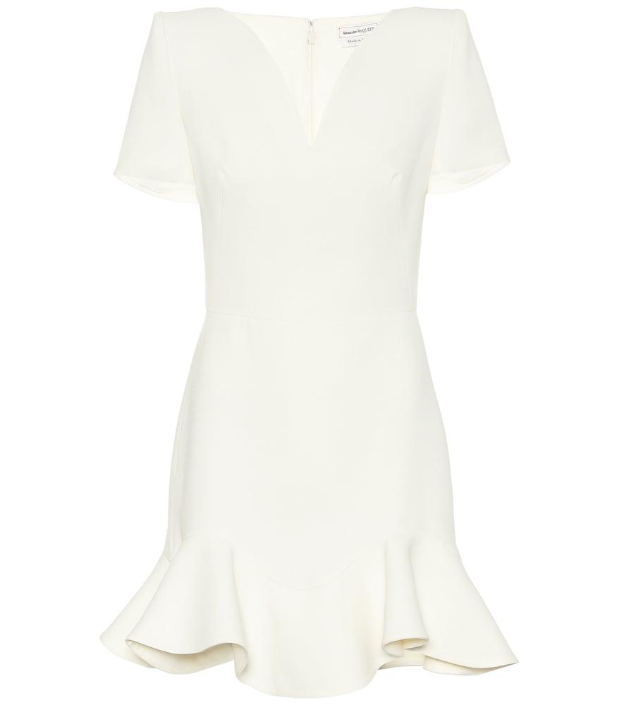 Wool-blend minidress