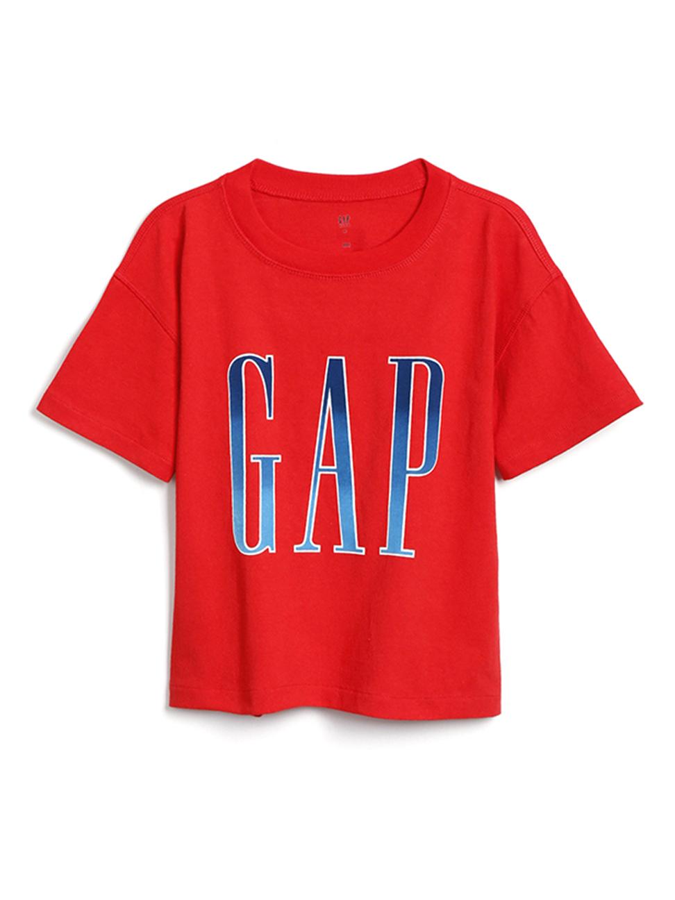 女童 Logo圓領短袖T恤