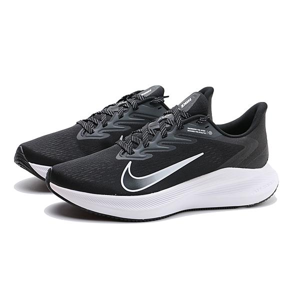 NIKE 慢跑鞋 ZOOM WINFLO 7 黑白 網布 運動 男 (布魯克林) CJ0291-005
