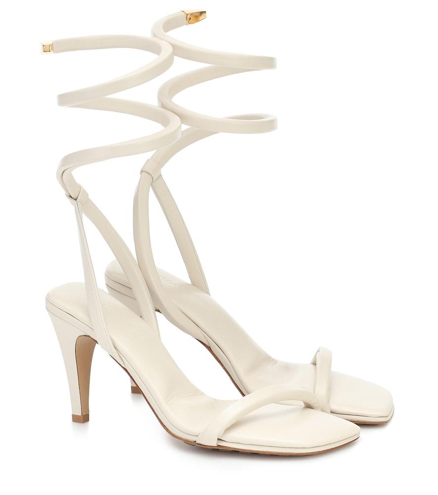 BV Spiral leather sandals