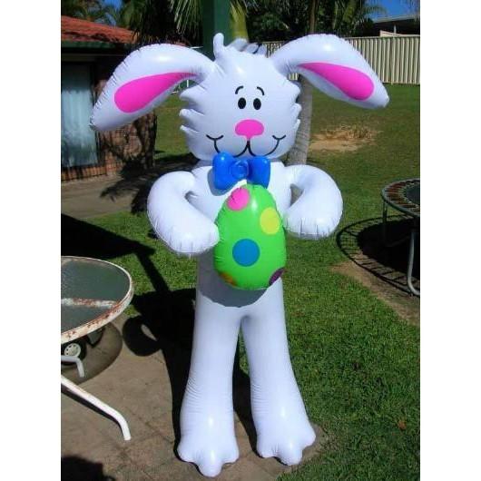 加厚160厘米充氣大兔子造型塑料卡通動物氣模玩具開業慶典店慶道具1入
