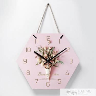 北歐時鐘掛牆臥室創意個性裝飾鐘錶掛鐘客廳靜音掛錶家用藝術壁鐘 萌寶時光 YTL