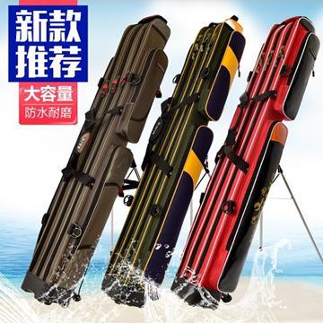 釣魚包魚竿包1.25米漁具竿包釣魚桿包硬殼防水雙層多功能大容量魚具魚包