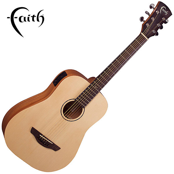 Faith FDS 嚴選雲杉木面板 桃花心木背側板 36吋旅行吉他-全單板/ 拾音器Faith CnR-3 system/