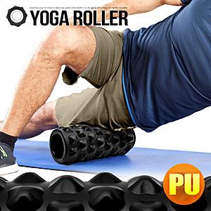 頂級PU高回彈33CM瑜珈滾輪.短版中空瑜珈柱.泡沫軸狼牙棒.指壓棒瑜珈棒瑜伽柱.筋膜美人棒肌肉