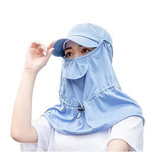 PUSH!戶外用品女遮陽帽戶外防曬太陽帽H33藍色藍色