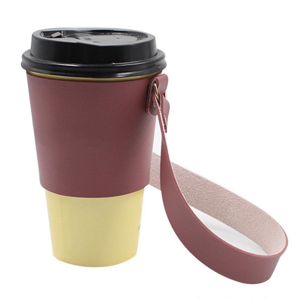 【iSFun】環保生活*皮革手搖飲隨行杯套提袋超值2入