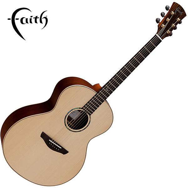 Faith FNHG 嚴選英格曼雲杉木面板 41吋民謠吉他-全單板/ 英國名品/ 附原廠琴盒