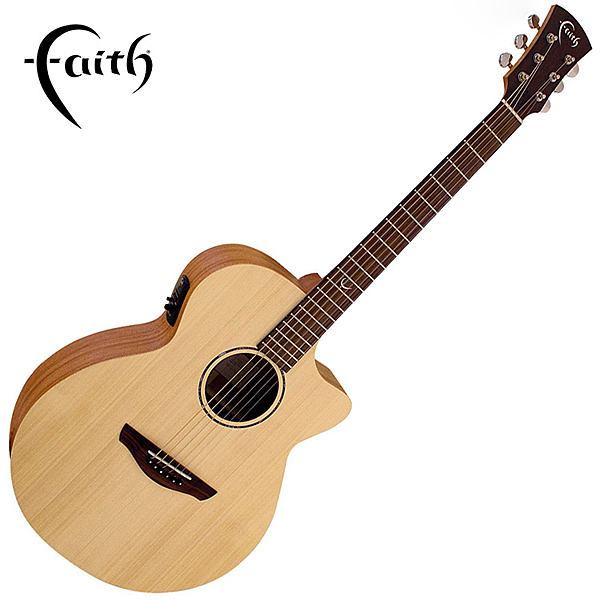 Faith FKV 嚴選英格曼雲杉木面板 40吋民謠吉他-2013年英國最佳原聲吉他/ 全單板/ 缺角造型/