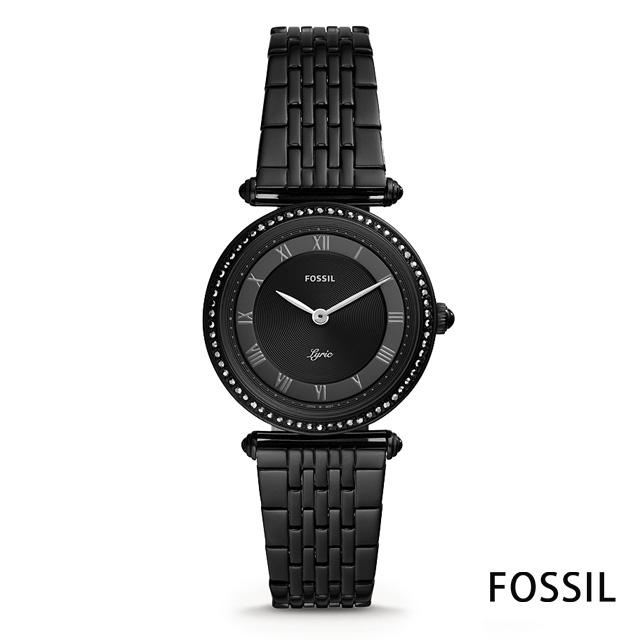 FOSSIL 時尚魅力圓形鍊帶女錶(ES4713)-黑/31mm