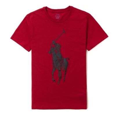 Polo Ralph Lauren 經典印刷大馬短袖圖案T恤-紅色