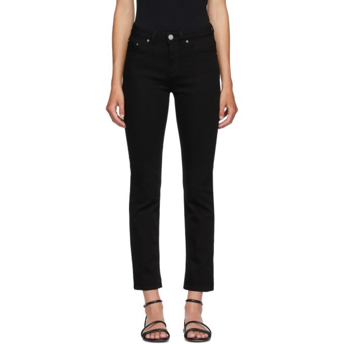 Toteme 黑色直筒牛仔裤