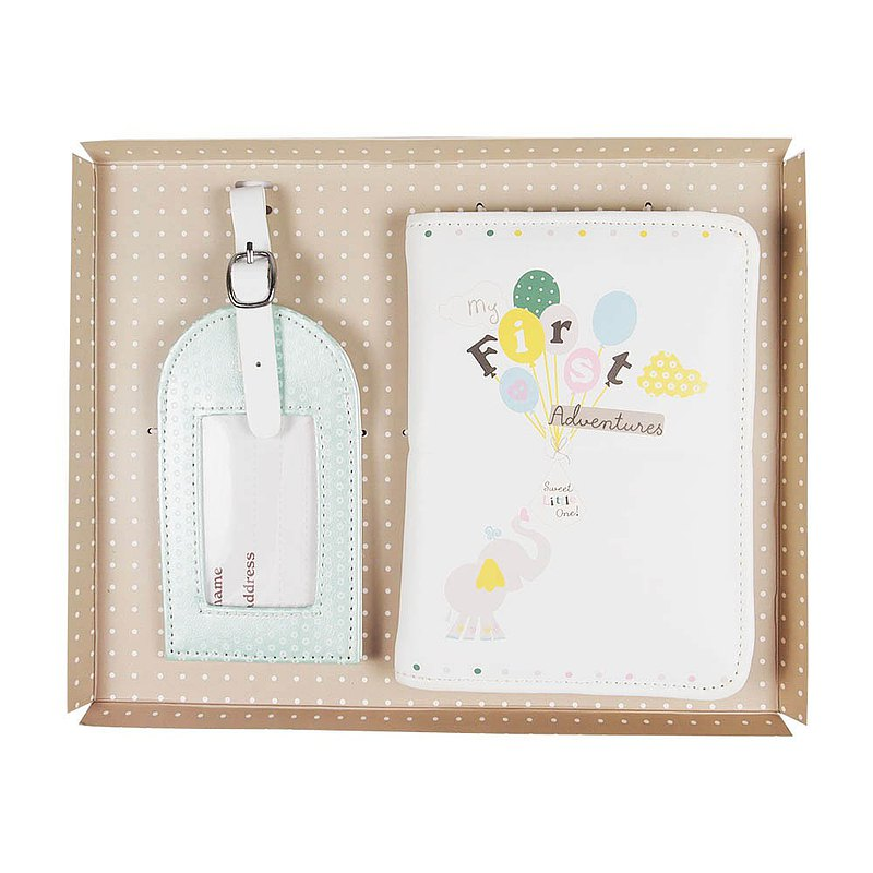 UK 寶貝賀喜 護照夾+行李吊牌【Hallmark-禮品】