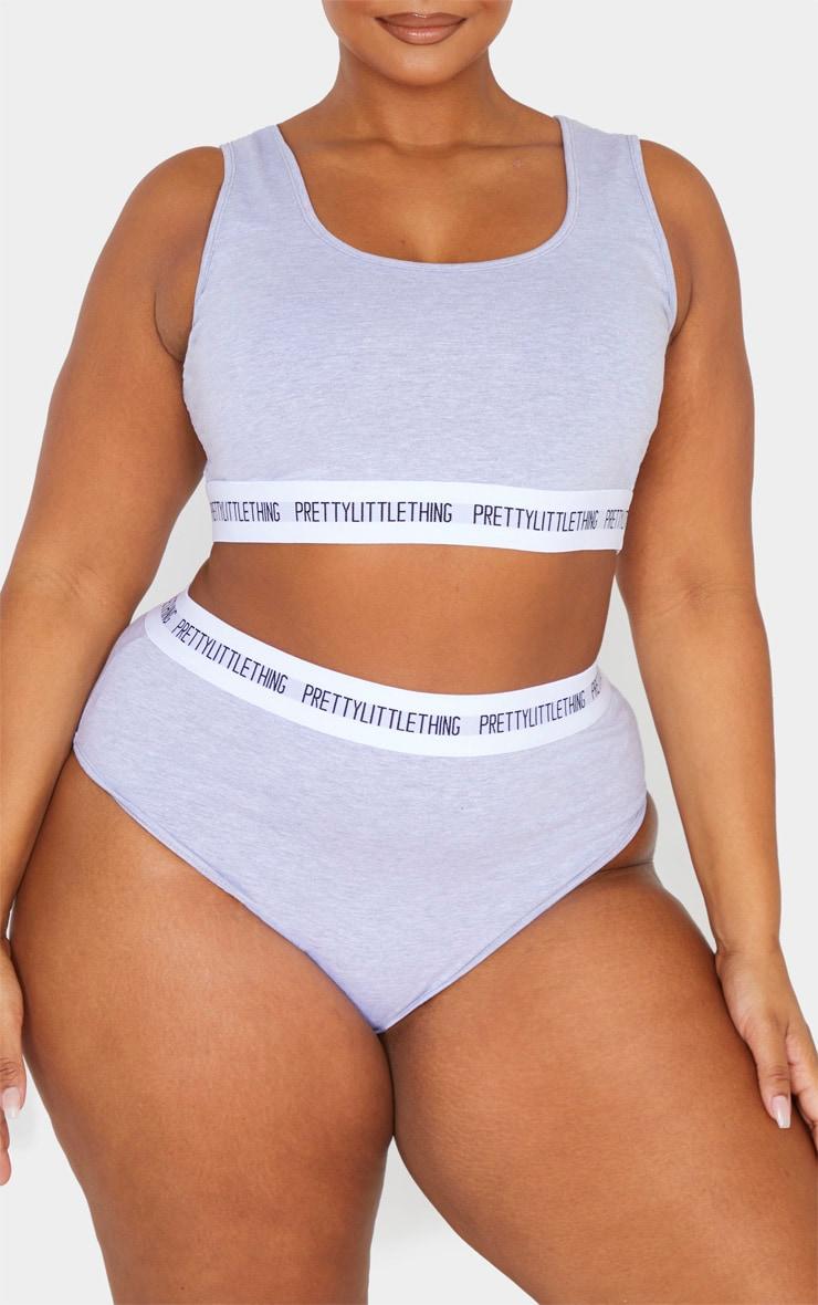 PRETTYLITTLETHING Plus Grey Panties