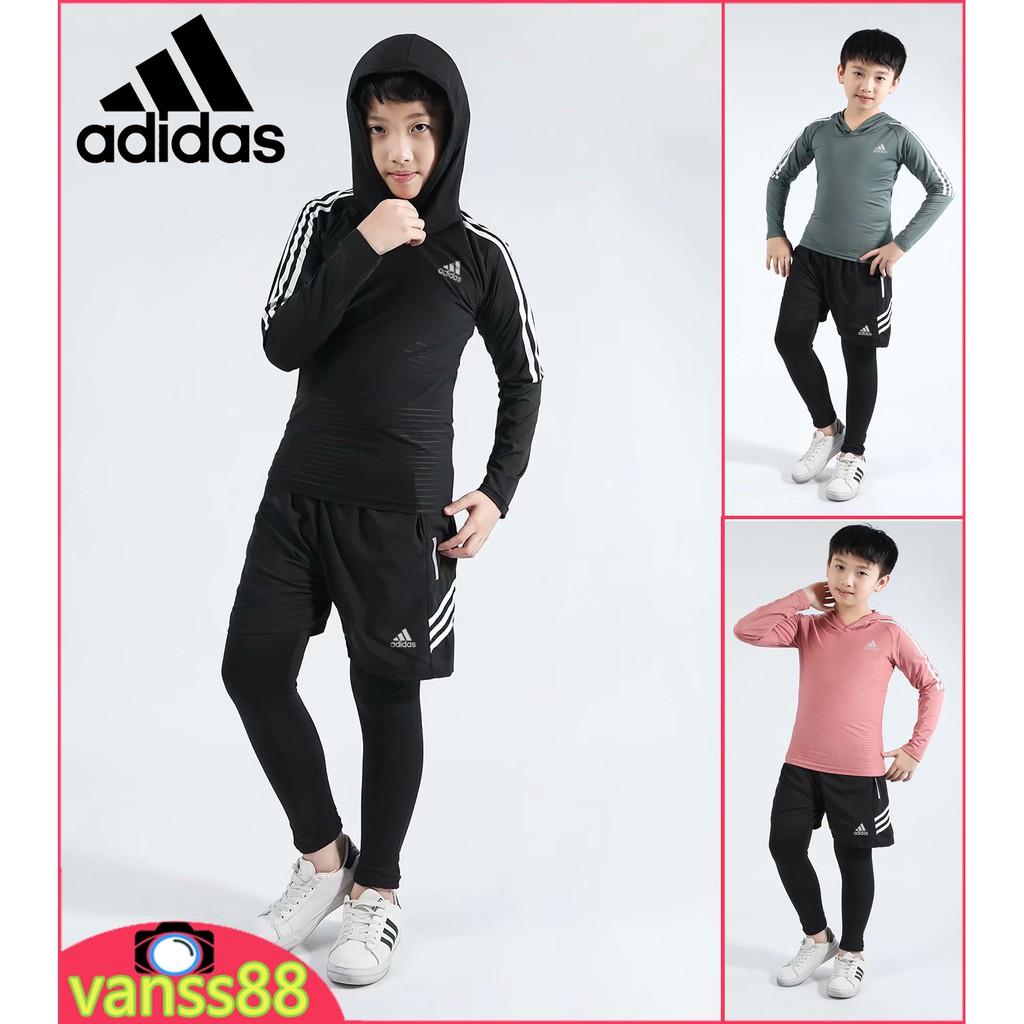 兒童套裝 愛迪達 adidas 童裝 兒童長袖套裝 兒童速乾T恤衫 兒童休閒運動套裝 兒童運動套裝
