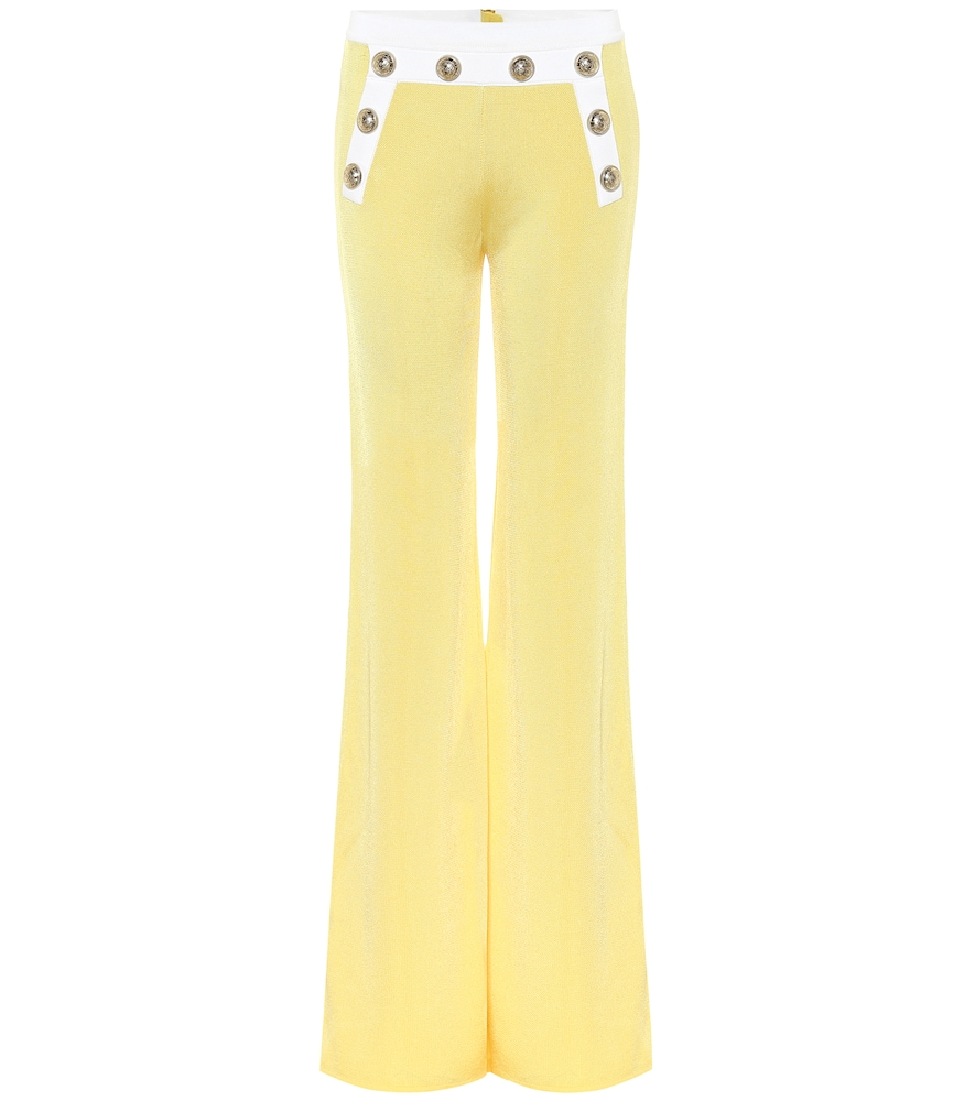 Exclusive to Mytheresa - High-rise knit flared pants