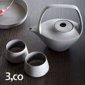 【3 co】水波提樑壺禮盒組 -  灰(4件式)