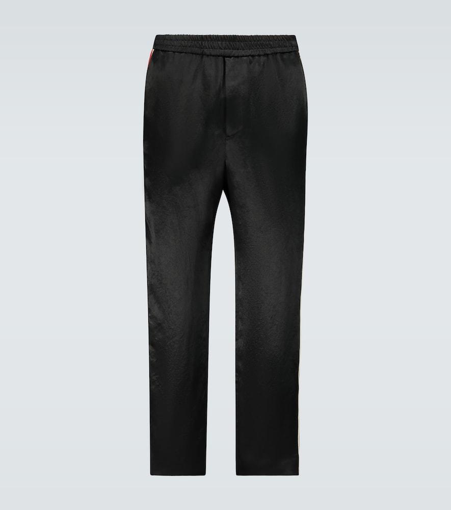 Interlocking G stripe satin pants