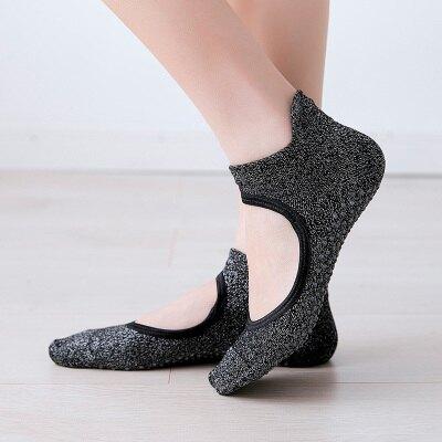 瑜伽襪 瑜伽襪專業防滑地板襪銀絲襪子矽膠初學瑜珈襪成人舞蹈襪露背夏季『XY4078』