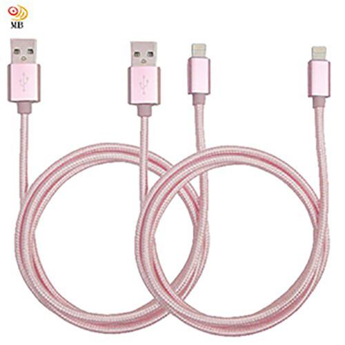 超值2入月陽尼龍編織1米蘋果專用手機快速充電線傳輸線(apr102)