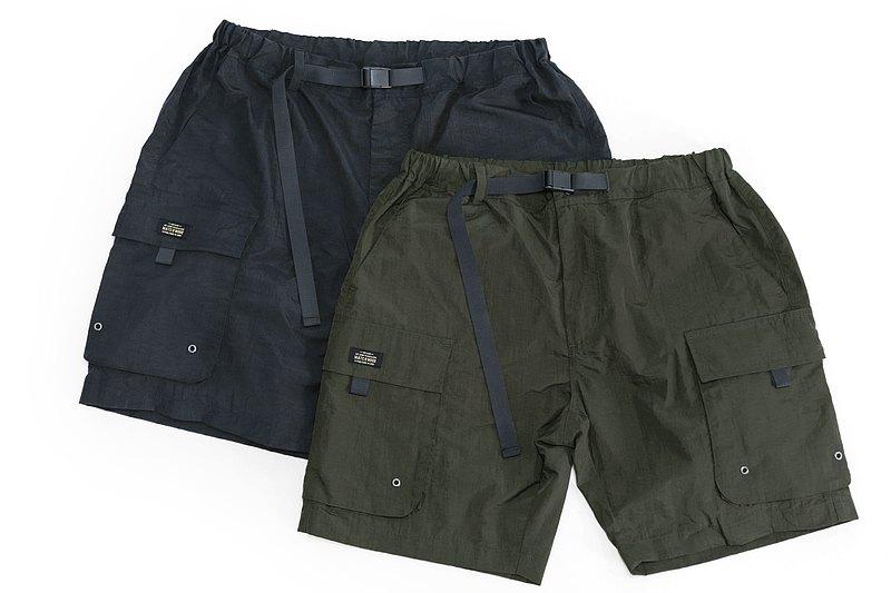 工裝機能口袋短褲 Pocket WP Shorts 防潑水口袋短褲 軍黑 / 軍綠