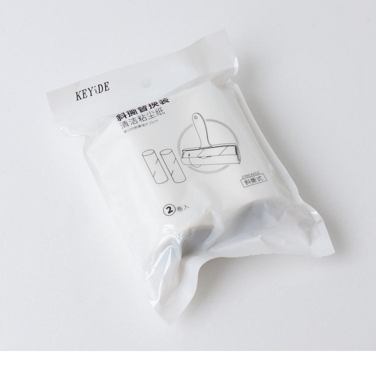 輕鬆斜撕黏毛除塵紙補充芯-2捲裝