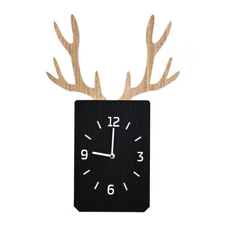 北歐掛鐘客廳壁掛墻面臥室靜音時鐘木質裝飾鐘表