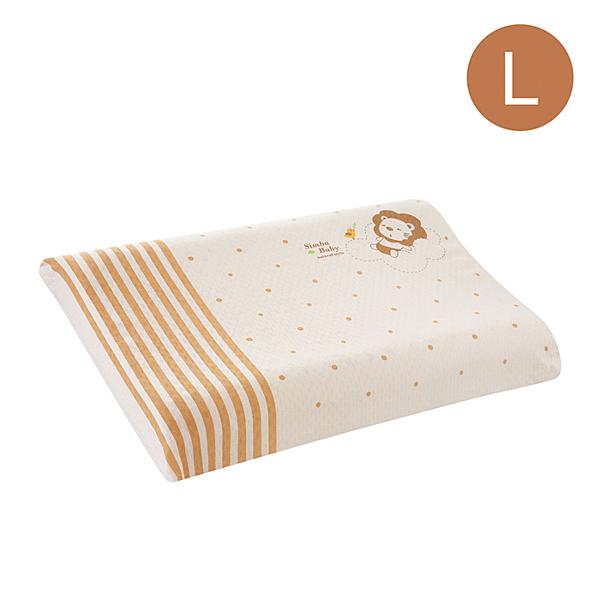 【愛吾兒】小獅王辛巴 Simba 有機棉乳膠舒眠枕(L-加厚型)