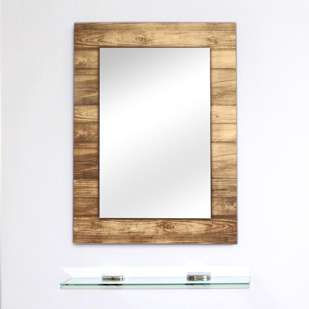 特力屋無銅鏡附平台-70x50cm-質感木紋