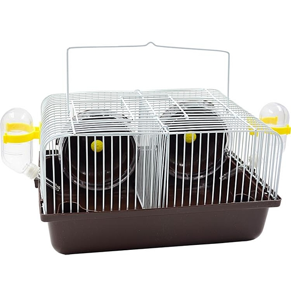 倉鼠相親籠 基礎籠金絲熊隔離籠子 分養分開隔板窩 隔離 兩只分籠