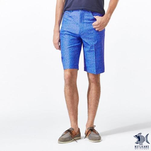 NST Jeans 四面彈 蔚藍海洋 印花休閒短褲 中腰 390 9451