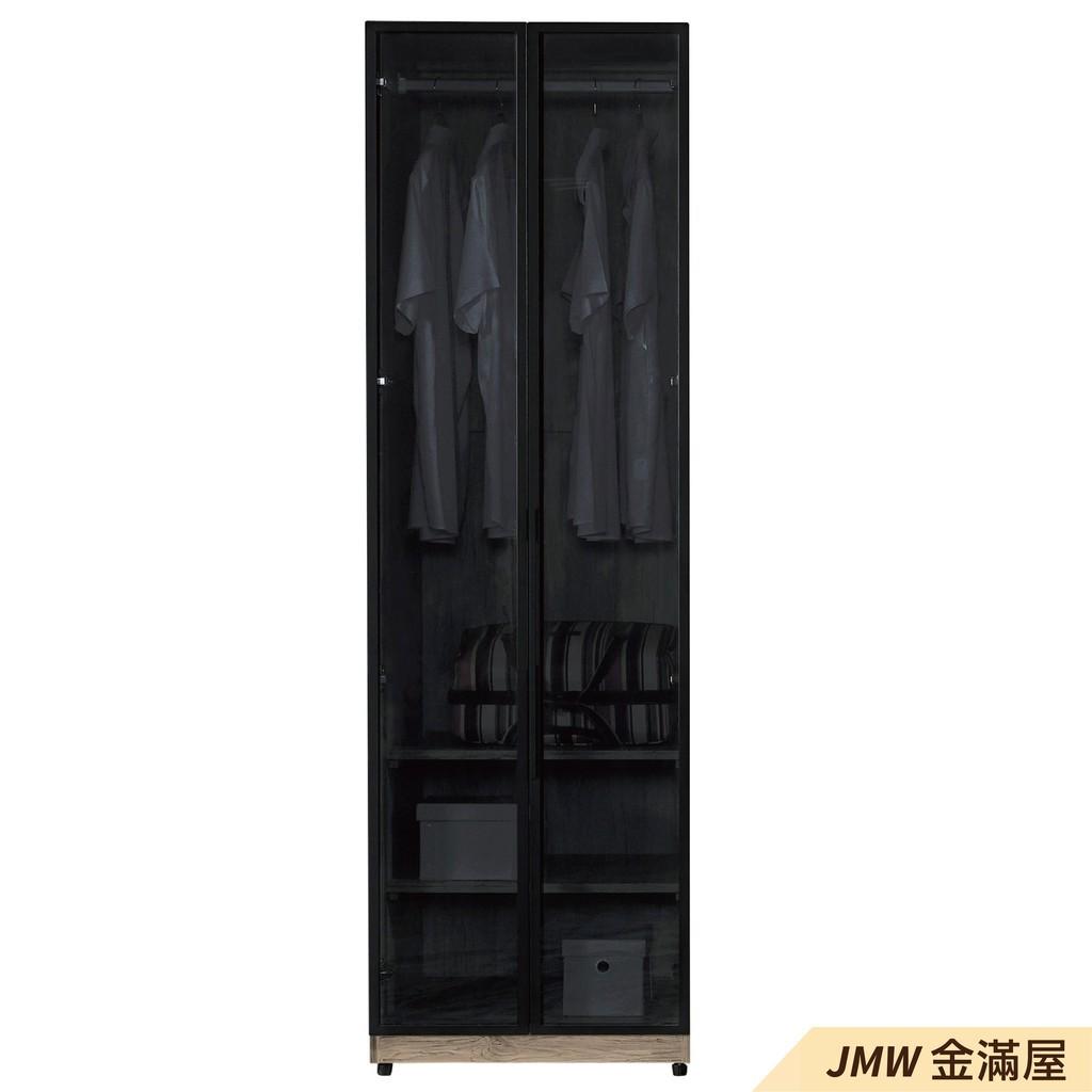 [免運]60cm衣櫃 尺衣櫥【金滿屋】木心板 推門滑門開門 衣服收納 免組裝-A142-4