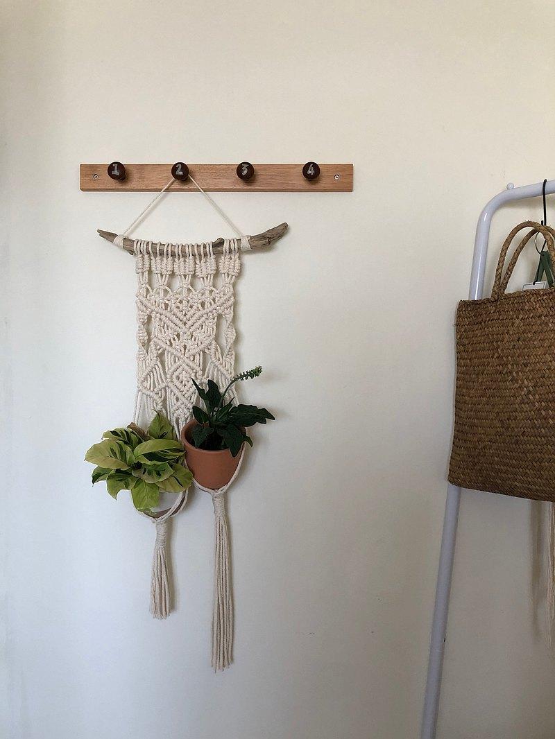 織 物 -兩個一起盆栽壁幔/ 壁飾/ 掛籃