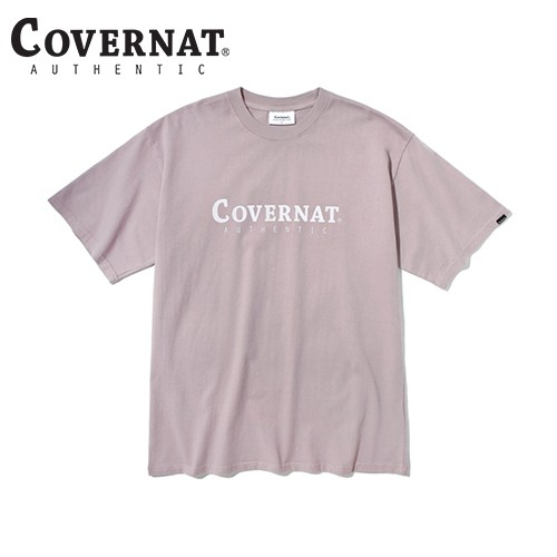 AUTHENTIC LOGO TEE PINK BROWN