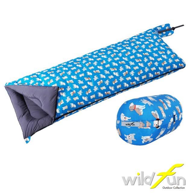 【野放】wildfun 童趣羊毛睡袋可拼接 台灣製