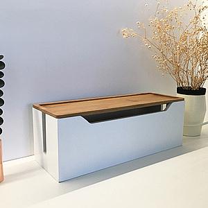 Ligfe簡約竹木集線盒-白/原木/黑簡約竹木集線盒-白