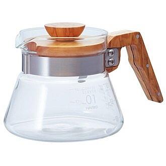 金時代書香咖啡  HARIO V60橄欖木40好握咖啡壺 400ml VCWN-40-OV