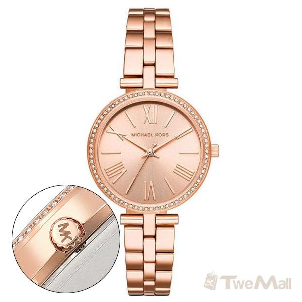 MICHAEL KORS MK 鋼錶帶 鑽錶 女錶/手錶/腕錶(玫瑰金)